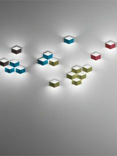 LED aluminium wall #light FOLD SURFACE 4209 by Vibia | #design Arik Levy @moxiethrift on etsy Brochu