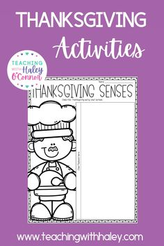 Thanksgiving activities-writing, flipbooks, printables, and more - Teaching with Haley. This packet is full of activities perfect for your little ones to use in the days and weeks leading up to Thanksgiving or during fall/autumn. In this packet, you will find 2 versions (regular lines and handwriting lines). Learn more about the different themed worksheets from all about pilgrims, Native Americans, and turkeys. While learning valuable skills such as word search and story problems.