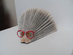 Porc-épic à lunettes porte courrier en livre plié