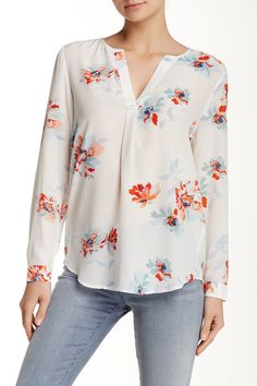 Joie - Deon Long Sleeve Printed Silk Blouse at Nordstrom Rack. Free Shipping on orders over $100.