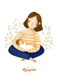 Art And Illustration, People Illustration, Illustrations And Posters, Character Illustration, Pregnancy Art, Mother Art, Buch Design, Happy Colors, Cute Drawings