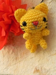 Cat Amigurumi Keychain by Thambelina on Etsy