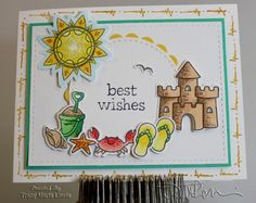 Beachy Best Wishes Card by zineth - Cards and Paper Crafts at Splitcoaststampers