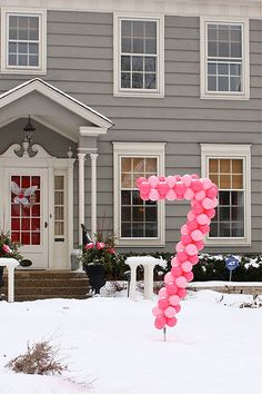 balloon number - this is too cool. - Love this idea - Could make big DASA balloon letters in our colors for the auction!