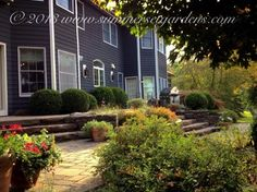 Natural Stone Steppers and Concrete Paver Patio Design - traditional - patio - new york - Summerset Gardens/Joe Weuste