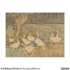 A Paddling of Ducks Postcard