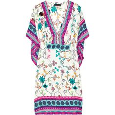 Antik Batik Kasa floral-print silk kaftan ($160) ❤ liked on Polyvore