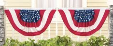 Stars and Stripes Flag Bunting Set of 2 Nylon American Pride Simple Hanging New American Flag Bunting, Patriotic Bunting, Patriotic Party, 4th Of July Party, July 4th, Collections Etc, 4th Of July Decorations, American Traditional, American Pride