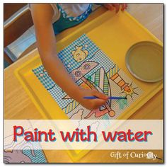 Watercolor books.. REMEMBER?? Paint with water - a simple art activity for kids - Gift of Curiosity