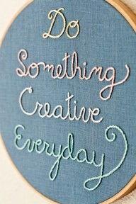 Lembre-se que você é o exemplo dos seus filhos. Seja criativo e incentive a criatividade.