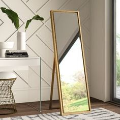 30 Most Popular Standing Mirror Designs For Bedroom Decor 2 - bucurieacasa Full Length Mirror Stand, Modern Full Length Mirrors, Hygge, Vanity Set With Mirror, Glam Mirror, Standing Mirror, Decor Pillows, Home Decor Trends, Decor Ideas