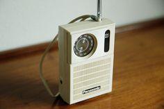White Panasonic Radio by MicroscopeTelescope on Etsy