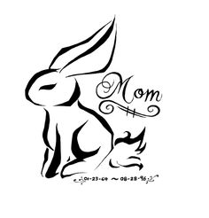 Bunny Tattoo Design by *Manasurge on deviantART... Love this. White ink for a remembrance tattoo from Mom.