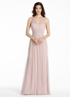 92a964e846c Different Colors Spaghetti Straps Backless A-Line Tulle V-Neck Bridesmaid  Dresses
