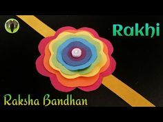 Rainbow Flower Rakhi Bracelet for Raksha Bandhan - (Design - Tutorial Craft Work For Kids, Summer Crafts For Kids, Diy For Kids, Nursery Activities, Craft Activities For Kids, Class Activities, Kindergarten Crafts, Preschool Crafts, Quilling Rakhi