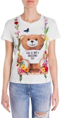 89dd4e2c Moschino Oversized Bear Floral Tee | Products | Bear print, How to ...