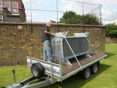 We deliver small loads of crowd barriers using a trailer. Small Trailer, Crowd, Outdoor Decor
