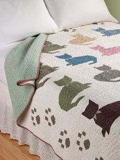 Vermont Country Store - Calico Kitty Quilt