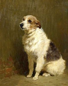 Portrait of 'Pilu', a Performing Dog by John Charlton