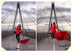 umbrella photoshoot {the pop of red makes the whole things come together!}