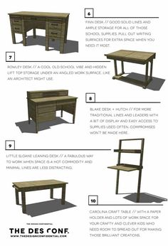 Marvelous Top 10 DIY Desk Plans + Back To School Furniture Projects | The Design  Confidential