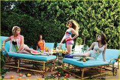 Ashley Benson, Shay Mitchell, Lucy Hale & Sasha Pieterse | Pretty Little Liars | The evil stares.