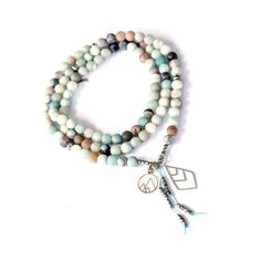 Matte Amazonite- is known as the Stone of Courage and the Stone of Truth. It empowers one to search withinand discover your truths and integrity , helpingto move beyond fear of judgment or confrontation with others to live in alignment with those beliefs and values. It provides the freedom to express one's thoughts a Thoughts And Feelings, Stone Beads, Meaningful Conversations, Pendants, Wild And Free, Gemstones, Integrity, Hand Stamped, Truths