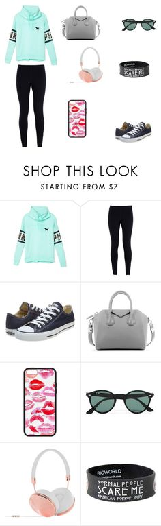 """Normal Day Outfit"" by jazmine-1222 ❤ liked on Polyvore featuring moda, Victoria's Secret, NIKE, Converse, Givenchy, Ray-Ban, Frends, women's clothing, women e female"