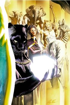 Black Panther & Storm by Alex Ross Comic Book Artists, Comic Book Characters, Marvel Characters, Comic Artist, Comic Character, Comic Books Art, Black Characters, Alex Ross, Marvel Universe