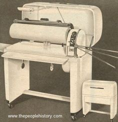 1950 Ironing Machine - This is what my mother used to do all her ironing.  She was a pro with this ironer.