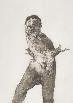 Figura alada I (2000) Plancha 25 x 35 Cm. Papel 38 x 56,5 Cm.