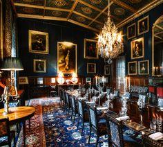 "livesunique: ""The Dining Room at Eastnor Castle, Ledbury, Herefordshire, England "" Luxury Bedroom Sets, Luxurious Bedrooms, Eastnor Castle, Castle Bedroom, Warwick Castle, English Castles, Dining Room Lighting, Dining Rooms, Herefordshire"
