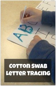Cotton Swab Letter Tracing - pinned by @PediaStaff – Please Visit  ht.ly/63sNt for all our pediatric therapy pins