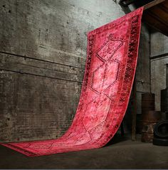 re-dyed old persian rugs from ABC home, so cool.