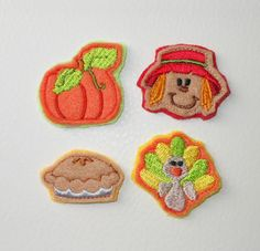 In The Hoop Felt Thanksgiving Embroidery by NewfoundApplique, $5.49