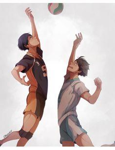 Daisuga, Iwaoi, Kuroken, Oikawa, Haikyuu Funny, Haikyuu Anime, Anime Naruto, Manga Anime, Haikyuu Kageyama