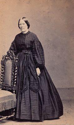 Second-Stage Mourning, Albumen Carte de Visite, Circa 1865 civil war era fashion