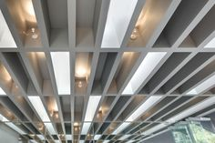 Cool ceiling treatment.  Celeste Champagne & Tea Room / Architects: PRODUCTORA