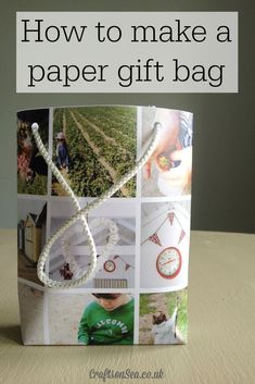 How to make a paper gift bag - Crafts on Sea