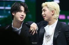 """"""" namjin at the namjin at the beginning of end of the the decade decade"""" Namjin, Jikook, Bts Young Forever, Person Falling, Make A Person, Bulletproof Boy Scouts, Bts Group, Celebrity Crush, Seokjin"""
