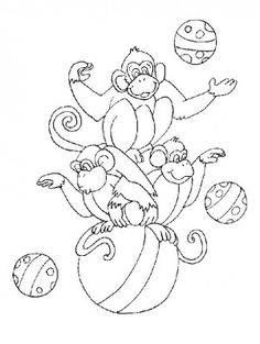 Printable circus monkey coloring pages for kids.free online animal circus monkey coloring pages for preschool activities worksheet. Monkey Coloring Pages, Coloring Pages For Boys, Animal Coloring Pages, Free Printable Coloring Pages, Coloring Book Pages, Adult Coloring, Circus Crafts, Not My Circus, Online Coloring