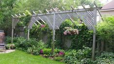 One idea to make my 6ft fence taller...Luv it.  Not sure I would have the room, but it definitely makes me think.