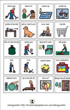 Pligter pictogrammer Danish Language, Homework Station Diy, Norwegian Words, Norway Language, Baby Barn, Autism Support, Visual Schedules, Social Stories, Preschool Worksheets