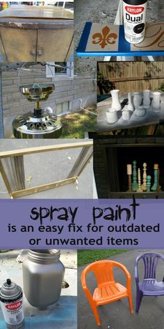 My Repurposed Life spray paint those unwanted-outdated items to give them new life
