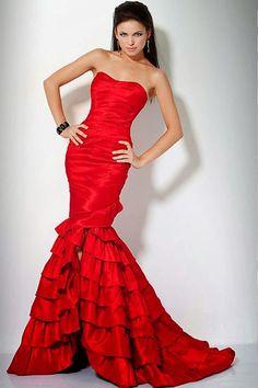 Vestidos de noche de color rojo | Rojo pasión