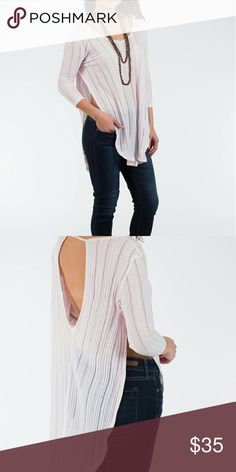 Free People Side Slit Shirt Cute feminine shirt light pink color By Free People  (We the free)  Please check out my closet for other fabulous items! Reasonable offers welcome. Free People Tops