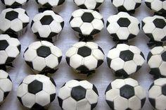 soccer cupcakes + more birthday ideas Soccer Birthday Parties, Soccer Party, Boy Birthday, Sports Party, Soccer Theme, Sports Food, Football Cupcakes, Cupcakes For Boys, Unique Birthday Party Ideas