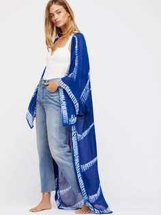 Spellbound Tie Dye Kimono at Free People Clothing Boutique