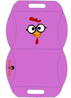 A  ARTE DOS PERSONAGENS PEGUEI AQUI http://montandoaminhafesta.blogspot.com.br/2013/07/bisnagas-para-impressao-galinha.html#more  E COLO...