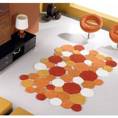 Alfombra Moderna Lana Carla Naranja #Ambar #Muebles #Deco #Interiorismo #Alfombras | http://www.ambar-muebles.com/alfombra-moderna-lana-carla-naranja.html